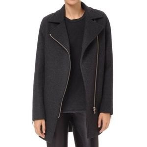 Aritzia Wilfred Wool Cashmere Fei Coat Charcoal